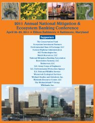Final Program pdf - National Mitigation & Ecosystem Banking ...