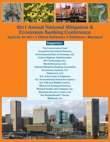 Final Program pdf - National Mitigation & Ecosystem Banking ...