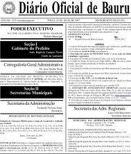 Seção I Gabinete do Prefeito - Prefeitura Municipal de Bauru