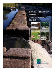 Stream Barrier Removal Monitoring Guide - Gulf of Maine Council