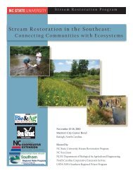 Stream Restoration in the Southeast: - Biological and Agricultural ...