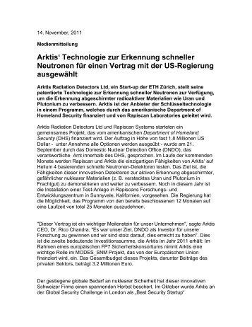 Arktis Radiation Detectors Ltd
