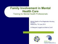 Vic Mental Health Carers Network