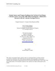 GEO-HAZ Consulting, Inc. Seismic Sources and Neogene Faulting