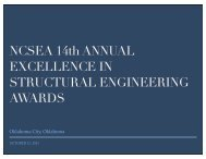 2011 NCSEA Excellence in Structural Engineering Awards ...