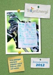årsredovisning för 2012 - Telge Energi