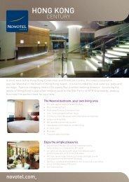 Hotel fact sheet - Novotel Century Hong Kong Hotel