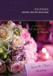 Wedding Brochure - Novotel Century Hong Kong Hotel