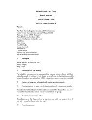 Fourth User Group Meeting Minutes - ScotlandsPeople