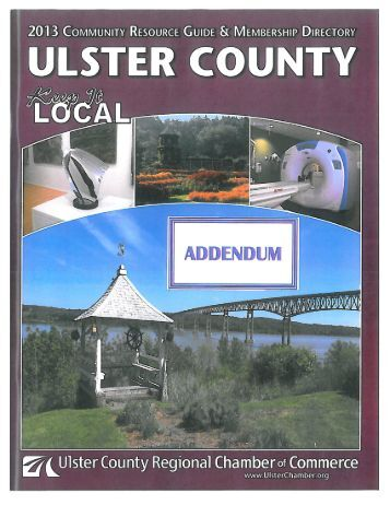 Page 1 Page 2 Ulster County Regional Chamber of Commerce ...