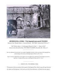 """ARCHEOLOGIA A ROMA -""""I Fori Imperiali cento anni fa"""" 1912/2012"""