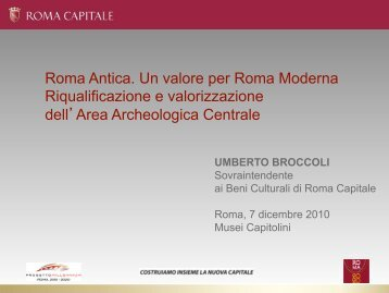 (1998-2011) – Documents [in PDF] - Rome - The Imperial Fora