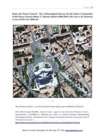 Rome, the Piazza Venezia - Rome - The Imperial Fora