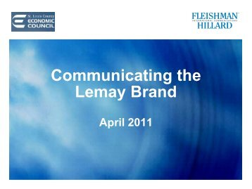 Communicating the Lemay Brand
