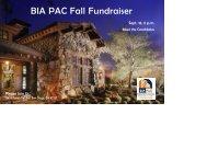 BIA PAC Fall Fundraiser