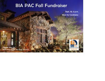 BIA PAC Fall Fundraiser