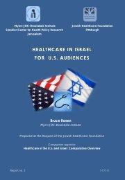 HEALTHCARE IN ISRAEL FOR U.S AUDIENCES