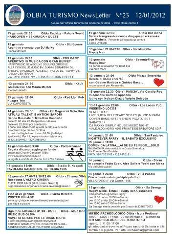 Newsletter ufficio turismo Olbia n. 23 del 12 - Olbia Turismo