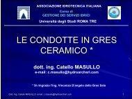 le condotte in gres ceramico - Associazione Idrotecnica Italiana