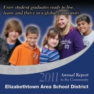 2011 Annual Report - Elizabethtown Area School District