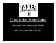 Taxes in the United States
