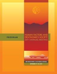 Technical Program - Human Factors and Ergonomics Society