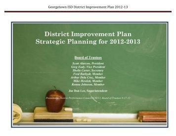 2012-2013 District Improvement Plan - Georgetown Independent ...