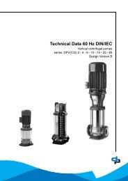 Technical Data 60 Hz DIN/IEC - DP Pumps