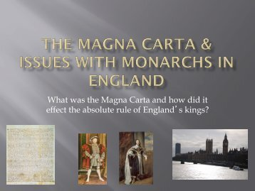 effect the absolute rule of Englands kings?