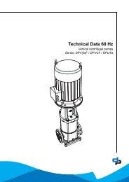 Technical Data 60 Hz - DP Pumps