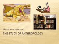 THE STUDY OF ANTHROPOLOGY