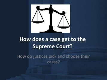 How does a case get to the Supreme Court?