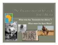 """What was the """"Scramble for Africa""""? What were the Boer Wars?"""