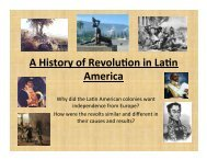 A History of Revolu0on in La0n America