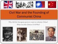 Civil War and the Founding of Communist China