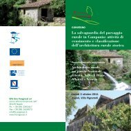 La salvaguardia del paesaggio rurale in Campania: attività di ...