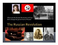 What was the Russian Revolution and how did it change the government of Russia?