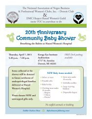 20th Anniversary Community Baby Shower - Hutzel Hospital