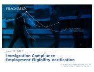 Immigration Compliance - Employment Eligibility Verification