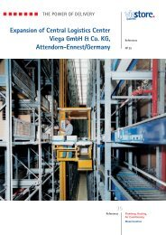 Expansion of Central Logistics Center Viega GmbH & Co ... - viastore