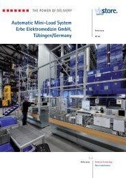 Automatic Mini-Load System Erbe Elektromedizin GmbH Tübingen/Germany