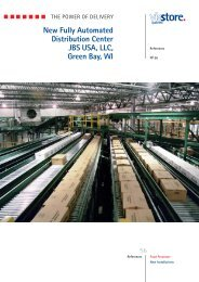 New Fully Automated Distribution Center JBS USA LLC Green Bay WI