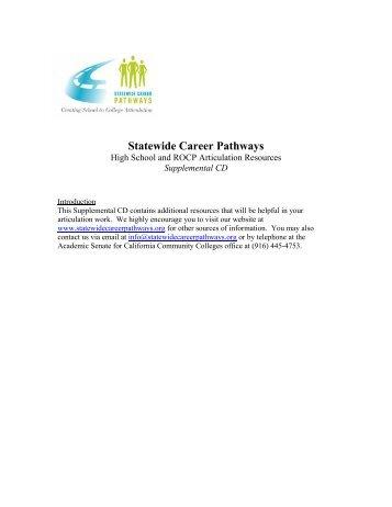 Insert time of event - California Statewide Career Pathways