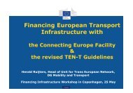 Financing European Transport Infrastructure with