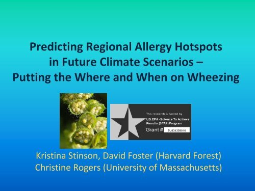 Predicting Regional Allergy Hotspots in Future Climate Scenarios ...