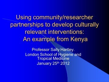 relevant interventions An example from Kenya