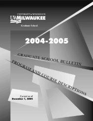 Academic Calendars and Deadlines - UW-Milwaukee Graduate ...