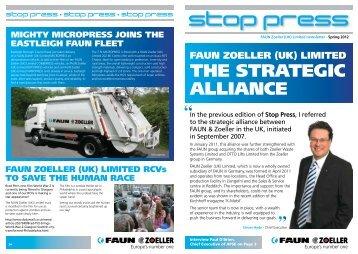 Stop press The strategic alliance