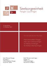 Herz Jesu Unterlauchringen - Seelsorgeeinheit Tiengen-Lauchringen