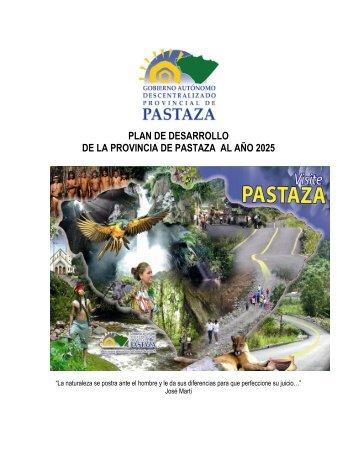 PLAN DE DESARROLLO DE LA PROVINCIA DE PASTAZA AL AÑO 2025